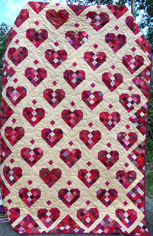 korsør hjerter sengetæppe til kildemose uden navn