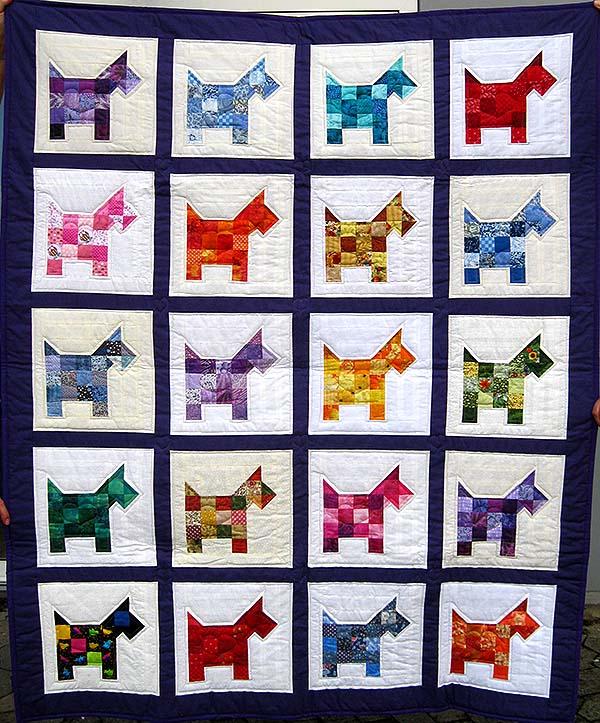 1710 viborg patchwork puttetæppe m hunde