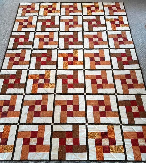 orange fleece tæppe
