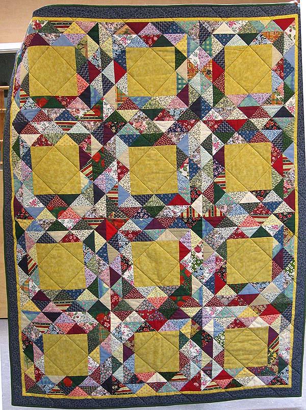 1905 doneret sengetæppe delt mont og q birgit clausen 1