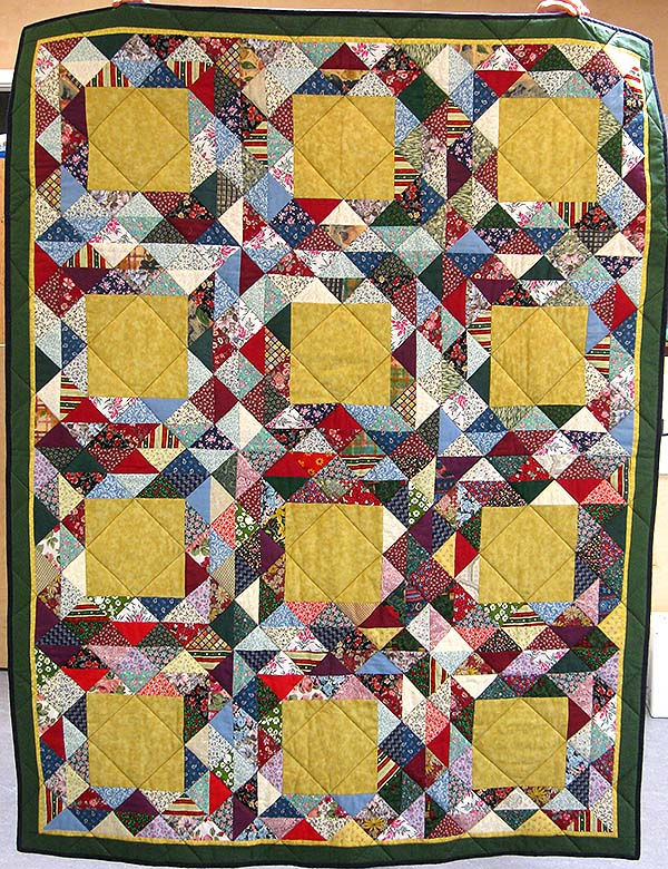 1905 doneret sengetæppe delt mont og q birgit clausen 2